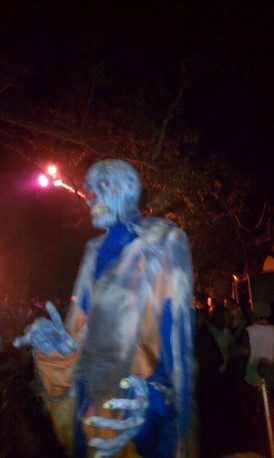 Bobble-headed Creature at L.A.'s Haunted Hayride